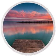 Rgb Sunset Round Beach Towel by Davorin Mance