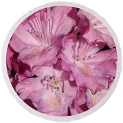 Rhododendron Bliss Round Beach Towel