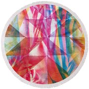 Rhythm And Flow Round Beach Towel