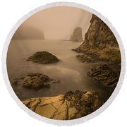 Rialto Beach Rocks Round Beach Towel