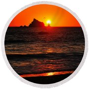 Rialto Beach Sunset Round Beach Towel