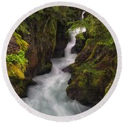 Ribbons Of Glacier Round Beach Towel