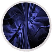 Round Beach Towel featuring the digital art Ribbons Of Time by GJ Blackman