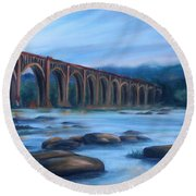 Richmond Train Trestle Round Beach Towel
