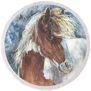 Pinto Pony Round Beach Towel