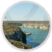 Round Beach Towel featuring the photograph Rio Grande by Erika Weber