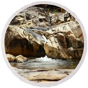 Rio On Pools Round Beach Towel by Kathy McClure