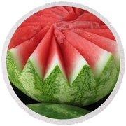 Ripe Watermelon Round Beach Towel