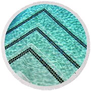 Ripple Effect Palm Springs Round Beach Towel