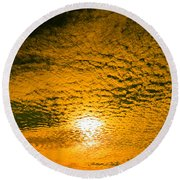 Ripples In The Sky Round Beach Towel by Nick Kirby