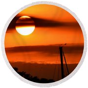 Rise And Shine Round Beach Towel by Deena Stoddard