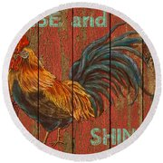 Rise And Shine Round Beach Towel by Jean PLout