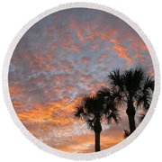 Rise And Shine. Florida. Morning Sky View Round Beach Towel