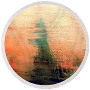 Round Beach Towel featuring the painting Rise by Jacqueline McReynolds