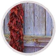 Ristra Round Beach Towel by Lynn Sprowl