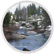 Round Beach Towel featuring the photograph River Bend  by Bobbee Rickard