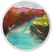 River Bend In October Round Beach Towel by John Williams