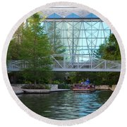 Round Beach Towel featuring the photograph River Boating  by Shawn Marlow
