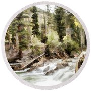 River Boulders Round Beach Towel