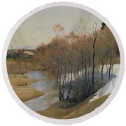 River Kordonka Round Beach Towel