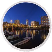 River Nights Round Beach Towel
