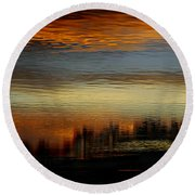 Round Beach Towel featuring the photograph River Of Sky by Laura Fasulo