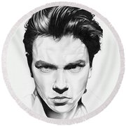 River Phoenix Round Beach Towel
