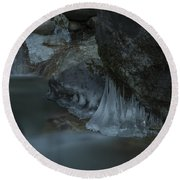 River Stalactites Round Beach Towel