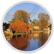 River Thames At Marlow Round Beach Towel
