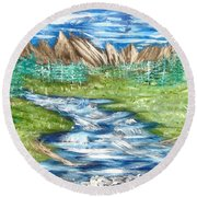 River Valley Round Beach Towel