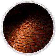River Walk Brick Wall Round Beach Towel by Shawn Marlow