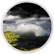 River's Ebb Round Beach Towel