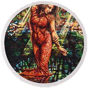 River's Edge Round Beach Towel