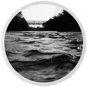 Round Beach Towel featuring the photograph Rivers Edge by Michael Krek