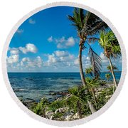 Cave Diving Country Round Beach Towel