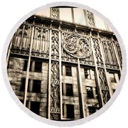 Round Beach Towel featuring the photograph Rm Montreal by Shawn Dall