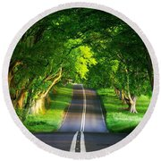 Round Beach Towel featuring the digital art Road Pictures by Marvin Blaine