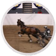 Round Beach Towel featuring the photograph Road Pony At Speed by Carol Lynn Coronios