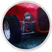 Vehicles Round Beach Towel featuring the photograph Road Rod  by Aaron Berg