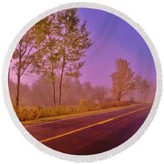 Round Beach Towel featuring the photograph Road To... by Daniel Thompson