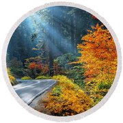 Road To Glory  Round Beach Towel by Lynn Bauer