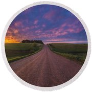 Road To Nowhere El Round Beach Towel