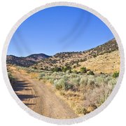 Road To Nowhere - Storey Nevada Round Beach Towel