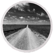 Road To Texaco Hill Round Beach Towel