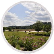 Round Beach Towel featuring the photograph Road Trip 2012 #2 by Verana Stark