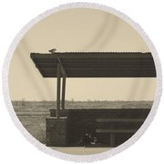 Roadside Rest Round Beach Towel