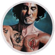 Robert De Niro 2 Round Beach Towel