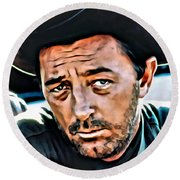 Robert Mitchum Round Beach Towel