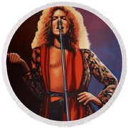 Robert Plant 2 Round Beach Towel