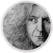 Robert Plant Round Beach Towel